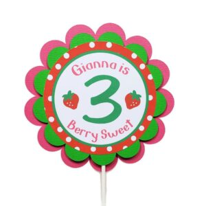 strawberry cake topper berry sweet