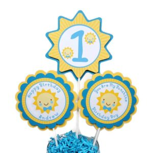 You are my Sunshine Boy 1st Birthday Centerpiece Sticks