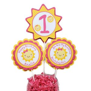 You Are My Sunshine Centerpiece Sticks Girl Birthday Party Decorations
