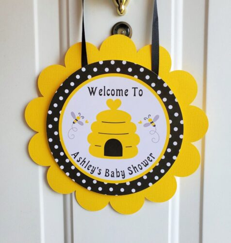 bumble bee door sign