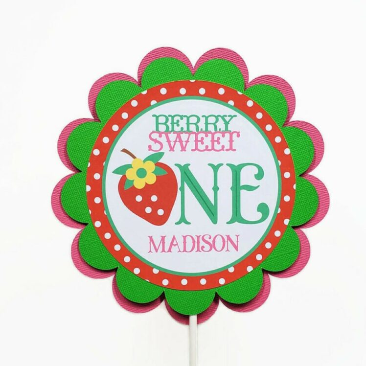 Berry Sweet ONE Strawberry Cake Topper