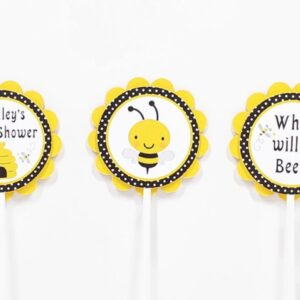bumble bee cupcake toppers