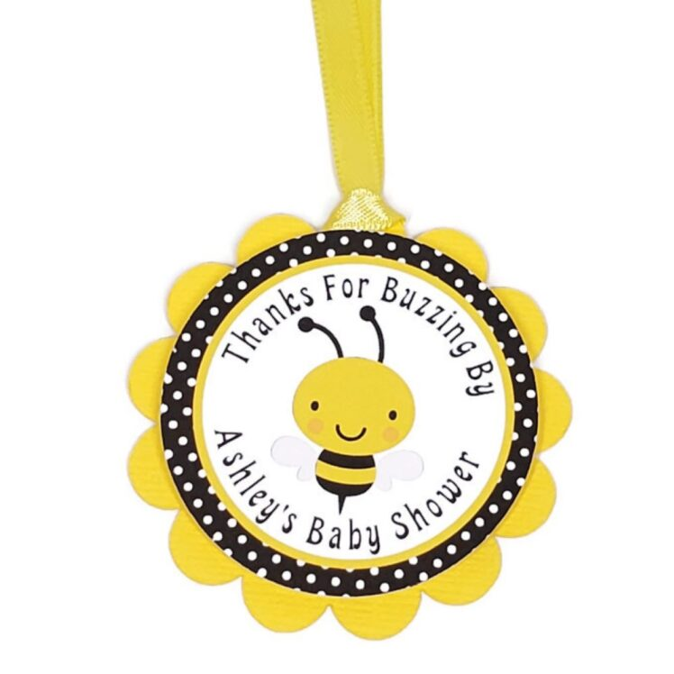 bumble bee favor tag