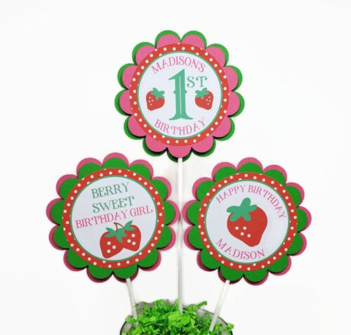 berry sweet strawberry centerpiece sticks