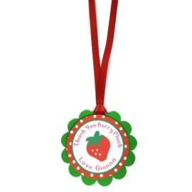 strawberry party favor tags