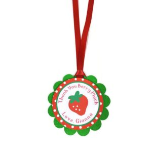 strawberry favor tag