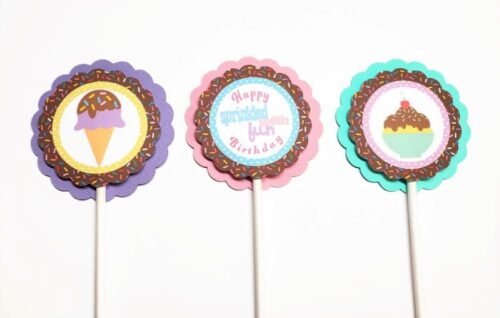 ice cream cupcake toppers