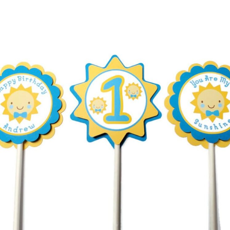 sunshine cupcake toppers