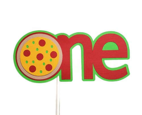 Pizza ONE cake topper