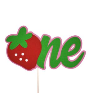 strawberry one cake topper